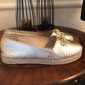 Kate Spade ♠️ Loranne platform gold leather shoes